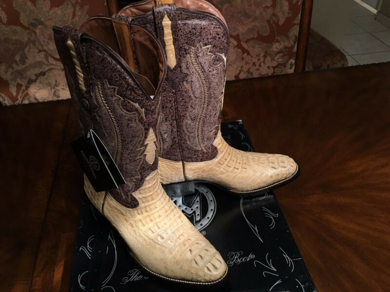 MONTANA, -, Mens, Alligator, /, Caiman, Hornback, Cowboy, /, Western, Boots, -, 9.5, E, (US)