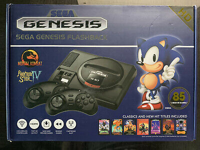 7ab953b559e09 SEGA Genesis Flashback 2018 Game Console w/ Wireless Controllers 85 + 1000  Games