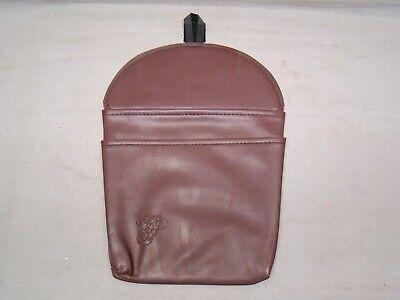 vintage NOS burgundy litter bag trash bag travel pouch litter container maps
