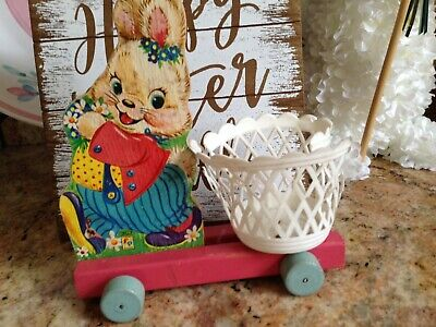Vintage Wooden Fisher Price Bunny #303