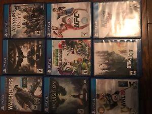 Lot de 9 jeux de PS4