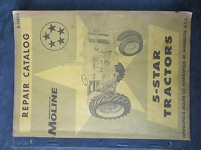 Minneapolis Moline 5-star Tractor Repair Catalog