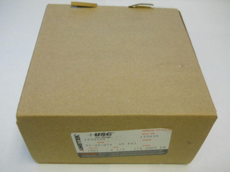 AMETEK USG GAUGE 60 PSI 155024X *NIB*