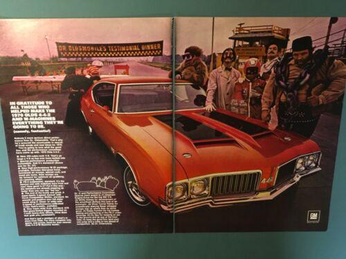 Original PRINT AD 1970 70 Oldsmobile Dr. Olds 442