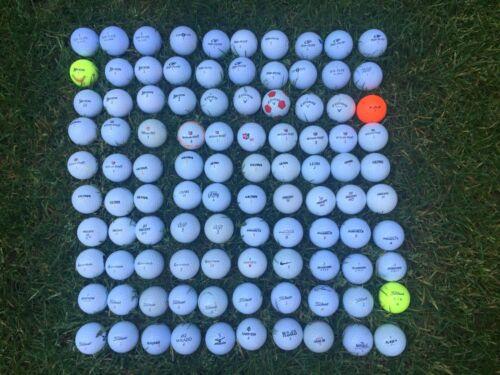 100 Golfbälle div. Marken Callaway Titleist Srixon TaylorMade Wilson gebraucht