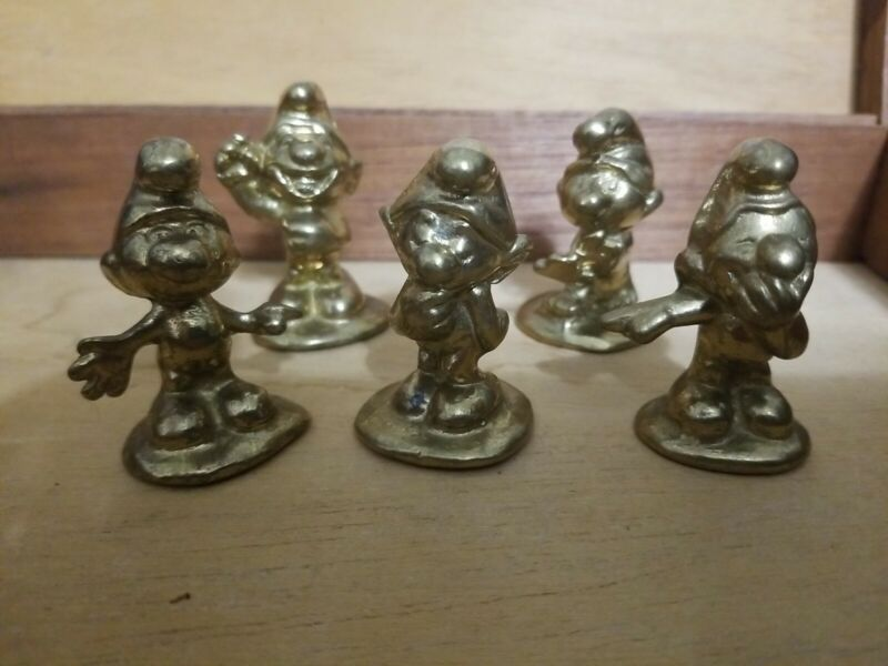 SMURFS by Riverside Brass Canada 5 Different RARE ;  )