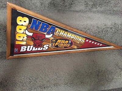 CHICAGO BULLS NBA CHAMPIONS 1998 FINALS FRAMED PENNANT - Pennant Frame