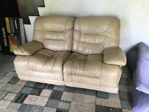 2 seater leather lounge recliners