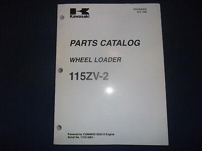 Kawasaki 115zv-2 Wheel Loader Parts Manual