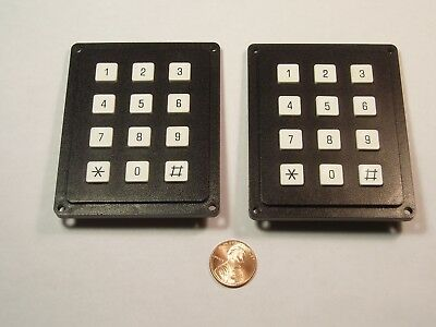 Lot Of 2 4x3 Matrix Array 12 Keys Switch Keypad Keyboard Diy Arduino 43 Nos