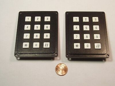 Lot Of 2 4x3 Matrix Array 12 Keys Switch Keypad Keyboard Diy Arduino 43 Nos