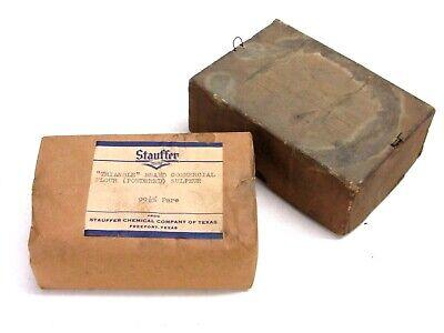 Vintage Stauffer Industrial Chemicals Triangle Powdered Sulphur Original Box
