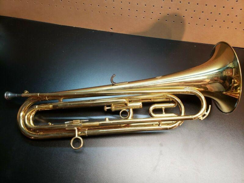 Getzen Single Valve Drum & Bugle Corp Horn Brass Pre-owned