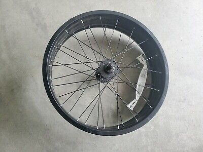 "PAIR OF 20/"" SILVER ALUMINUM BIKE RIMS FRONT AND REAR RMRT601"