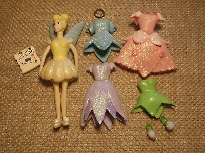 Polly Pocket Disney Peter Pan Tinkerbell Fairy Lot Outfits Glitter Sparkle B78