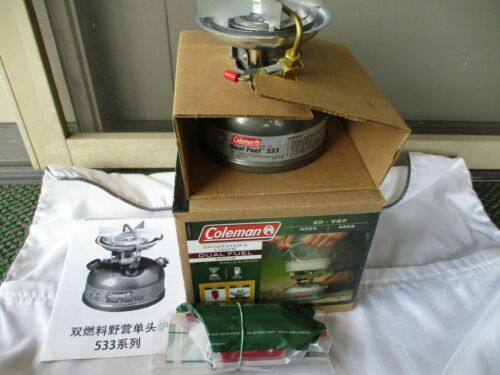 UNFIRED Coleman Coleman Sportster II 533 Dual Fuel Stove w/ Japanese Writing