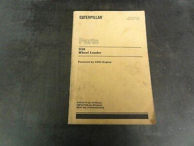 Caterpillar Cat 930 Wheel Loader Parts Manual  Sebp1052-01