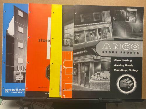 Vtg Brochure Lot ~ Store Fronts Himmel Himco Kawneer Brasco Alumiline ANCO 1949
