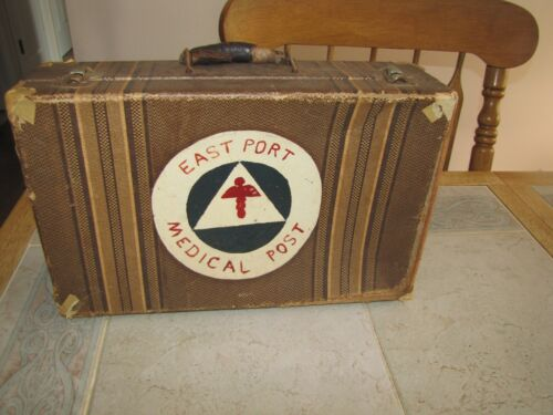 VTG EASTPORT NY MEDICAL POST VINTAGE ANTIQUE Medical case