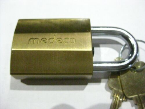 Medeco Padlock w/ 2 Keys. New. High Security. Made in the USA.