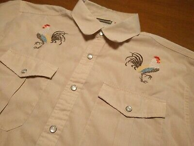 Howler Brothers Bros Gaucho Snapshirt - Rooster Embroidered - Medium - RARE