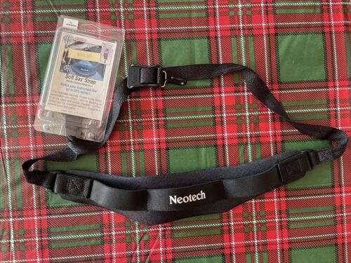 Neotech Plastic Covered Metal Hook Soft Sax Saxophone Strap Black XL Made in USA