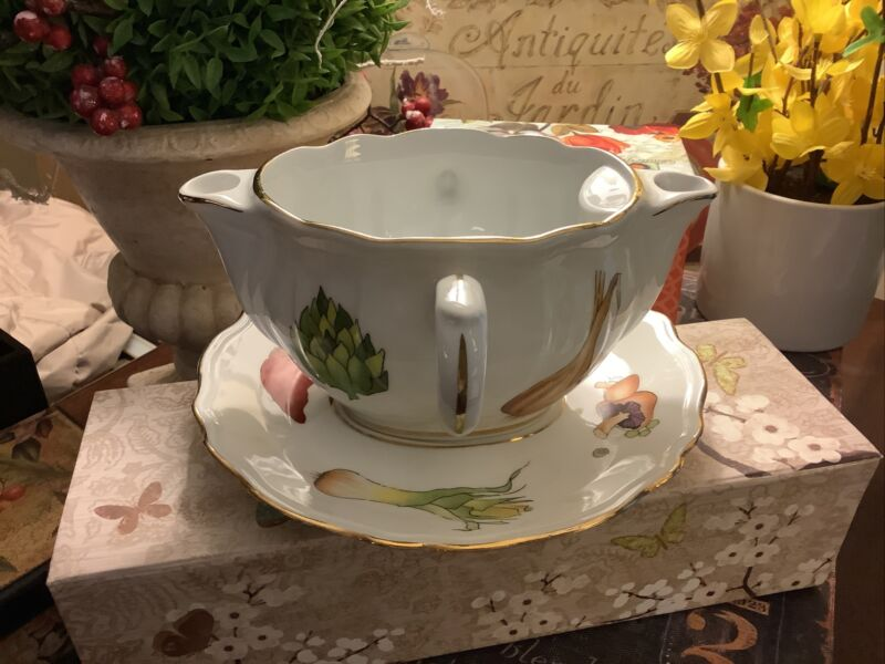 Lourioux~Made In France~Gravy Boat & Underplate~French Country~FREE SHIPPING~