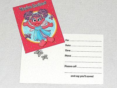 ABBY CADABBY~8-PAPER INVITATIONS & THANK YOU NOTES BIRTHDAY,CHILD  PARTY  (Abby Cadabby Invitations)