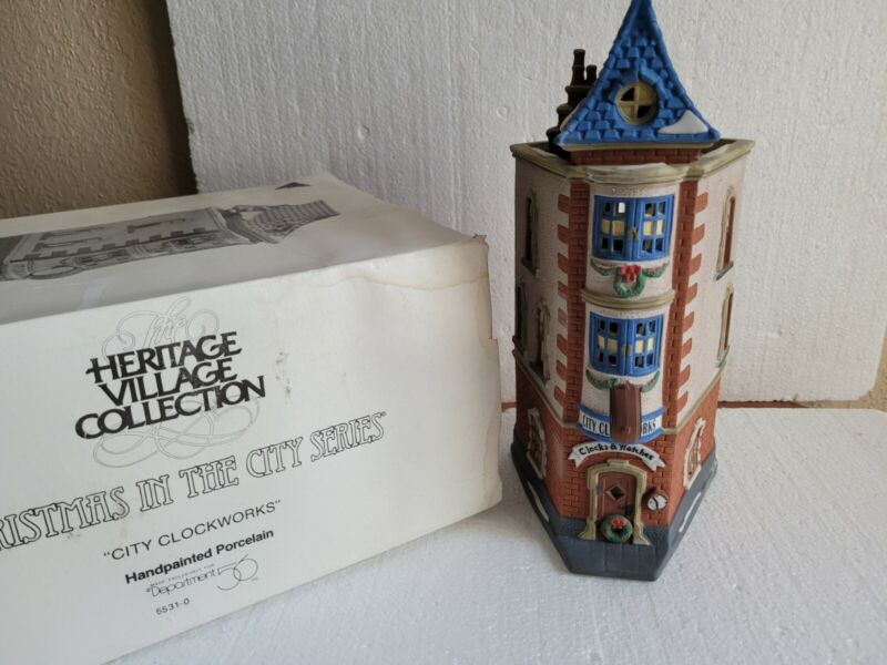 Dept 56 Christmas In The City Lighted CITY CLOCKWORKS Building #5531-0 (1992)
