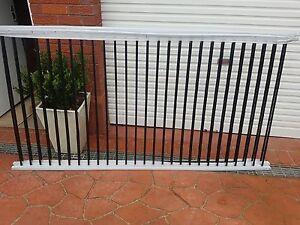 7 black panels of brand new tubular pool fencing Lugarno Hurstville Area Preview
