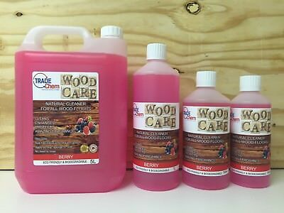 Wood Care - Wood & Laminate Floor Natural Cleaner Protector - 750ml - Berry