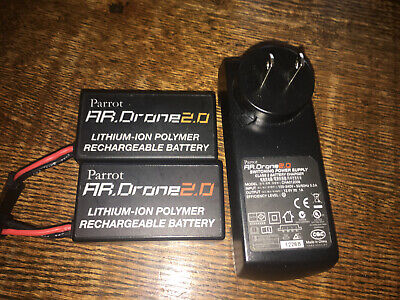 Genuine OEM Original Parrot AR Drone 2.0 Battery Charger with 2 Batteries