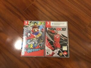 Mario oddest and NBA2k 18 bundle for switch