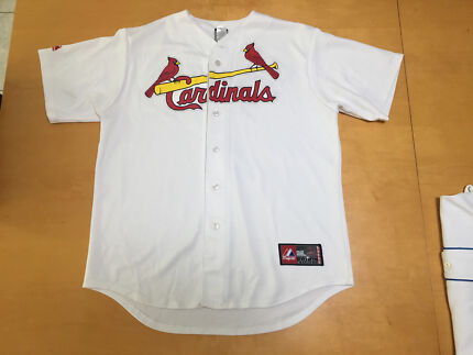Baseball Cardinals Button Up Jersey Holliday Size Large