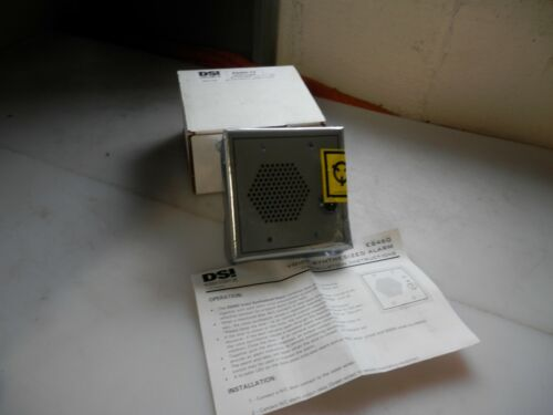NEW DSI ES460-T0 DESIGNED SECURITY INC. VOICE SYNTHESIZED ALARM