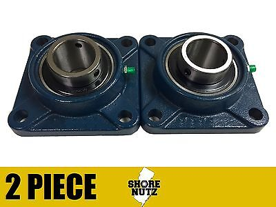 2 Pieces 1 4 Bolt Flange Bearing Ucf205-16 Ucf205
