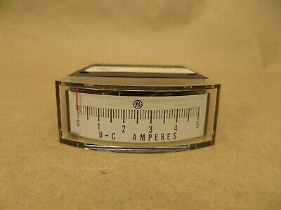 Vintage Ge Metermaster Dc Amp Panel Meter Gauge 0-5 Amps