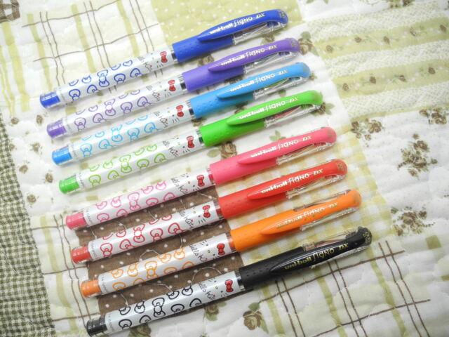 8 Colors Uni-Ball Hello Kitty UM-181 KT 0.38mm rollerball pen HK Limited(Japan)