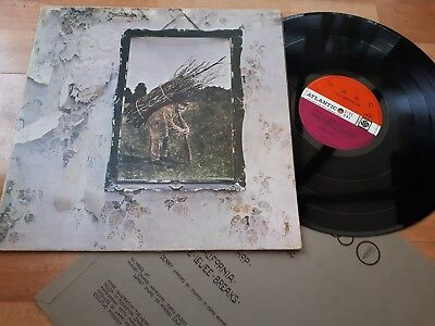 Led Zeppelin 4 IV LP A3 B4 Plum Label Excellent Audio Pecko Duck Vinyl Record for sale  Shipping to South Africa