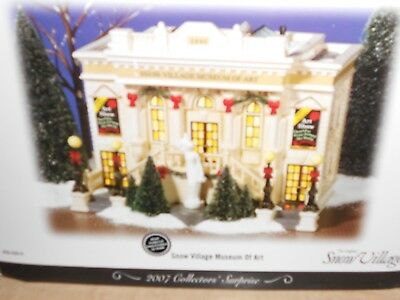 DEPT 56 SNOW Village SNOW VILLAGE MUSEUM OF ART NIB (B) ()