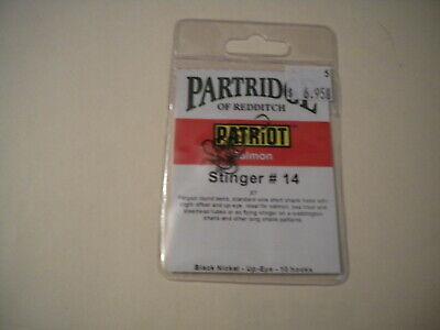 Partridge Hooks M2 Heavy Single Qty 10 Size 2//0