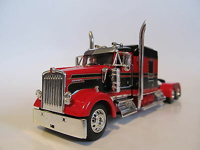 Dcp 1 64 Scale W 900 Kenworth Mid Roof Red Black Seminole Stripe Long Wheel Base