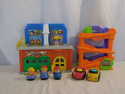 Little People Auto Mechanic Shop & Car Wash + Lil Zoomers Chase n Race Ramp +