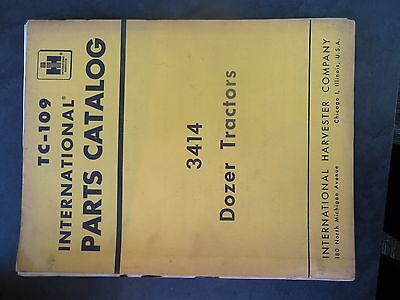 Farmall Ih 3414 Dozer Tractor Parts Catalog