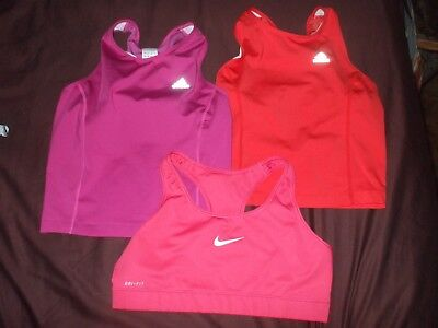 Adidas climacool purple orange bra support tank tops & Nike Pro sports bra Med