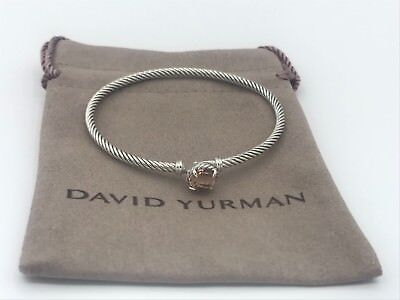 DAVID YURMAN 3mm Sterling Silver Chatelaine Bracelet with Morganite $325