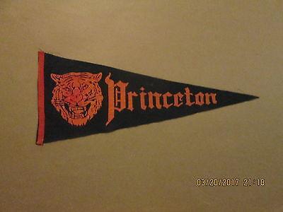 NCAA Princeton Tigers Vintage Circa 1960's Division 1 Logo College Pennant