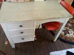 Retro silky oak desk Ashgrove Brisbane North West Preview