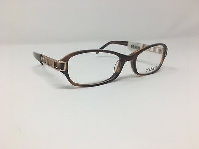 Authentic Tura Eyeglasses 51-17-130 Brown/Gold Plastic China Rectangular AD80
