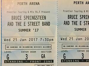 Bruce Springsteen and the E Street Band  - 2 x General Admin Tickets Victoria Park Victoria Park Area Preview